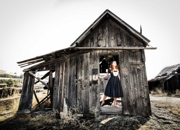 Ghost town portrait of a woman in Oregon