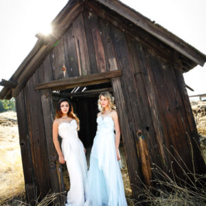 Fashion in ghost town photography